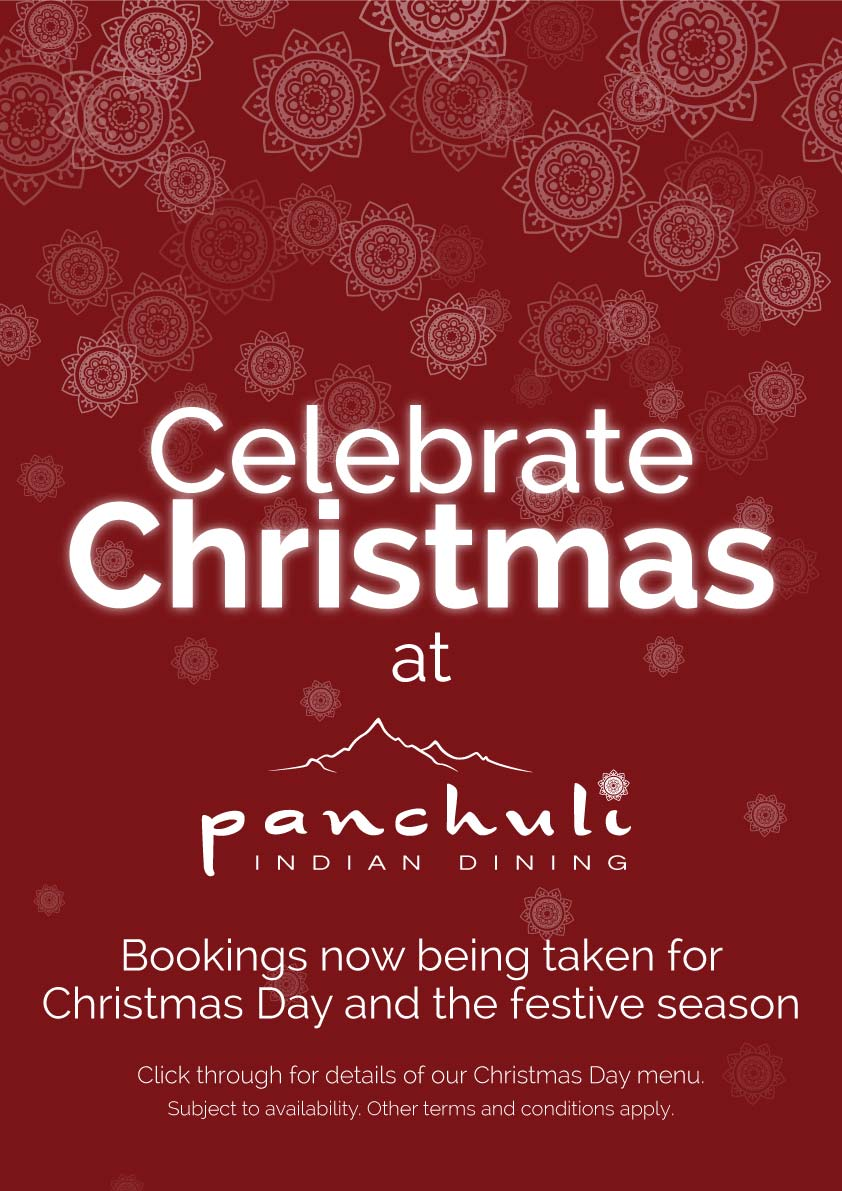 Celebrate Christmas at Panchuli. Bookings now being taken for Christmas Day and the festive season. T&C's apply.